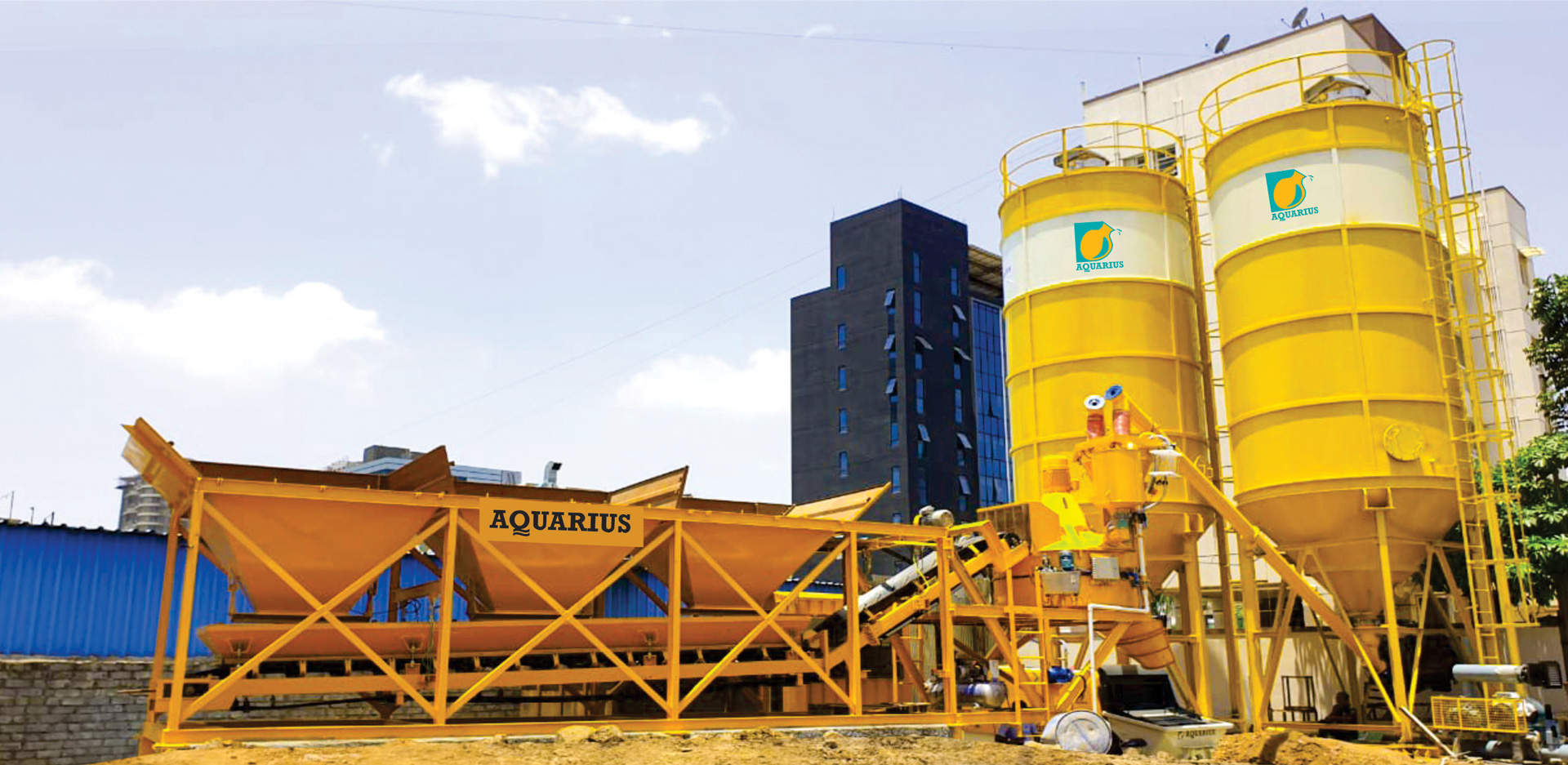 Aquarius SMP T 30 Batching Plant working at V Realty Site, Pune