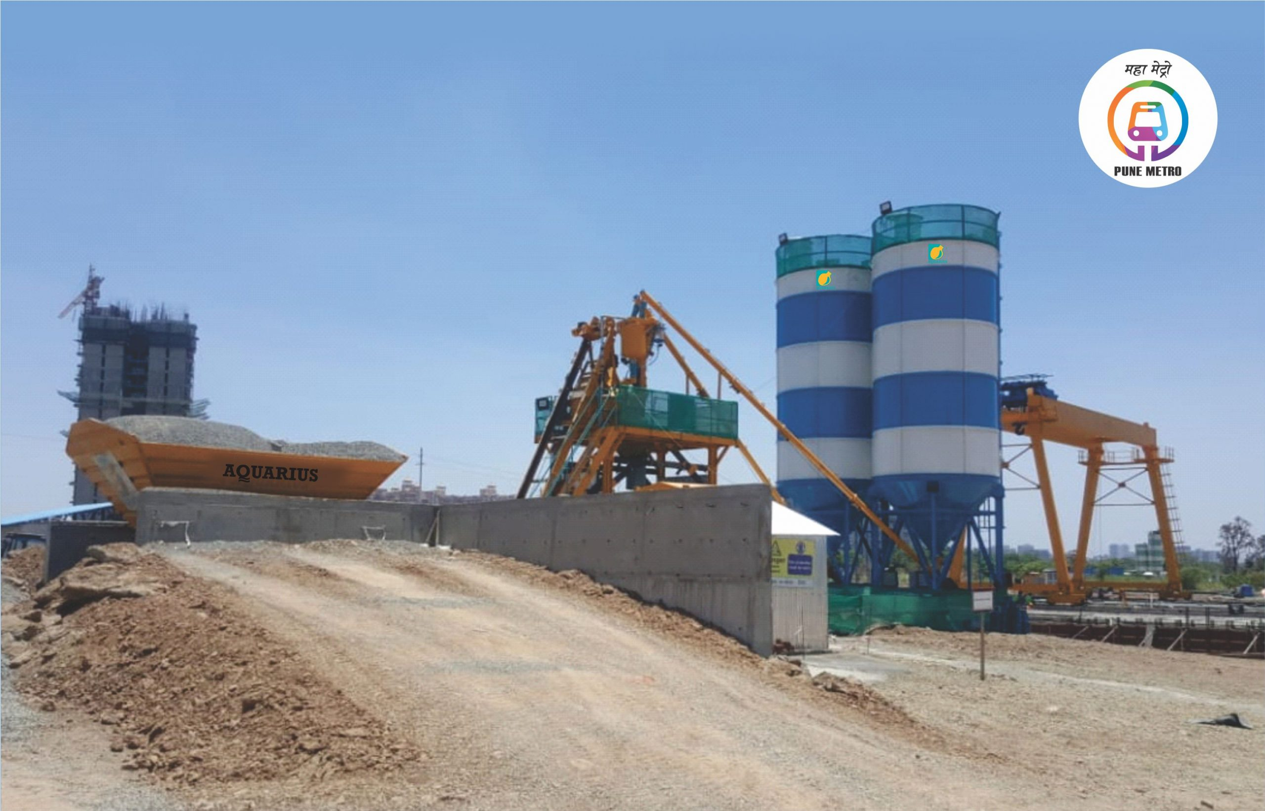 Aquarius MP 30 Batching Plant working at SHINDE DEVELOPERS for PUNE METRO Project