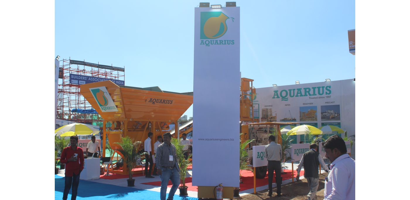 Tremendous turnout at the Aquarius stall at Constro