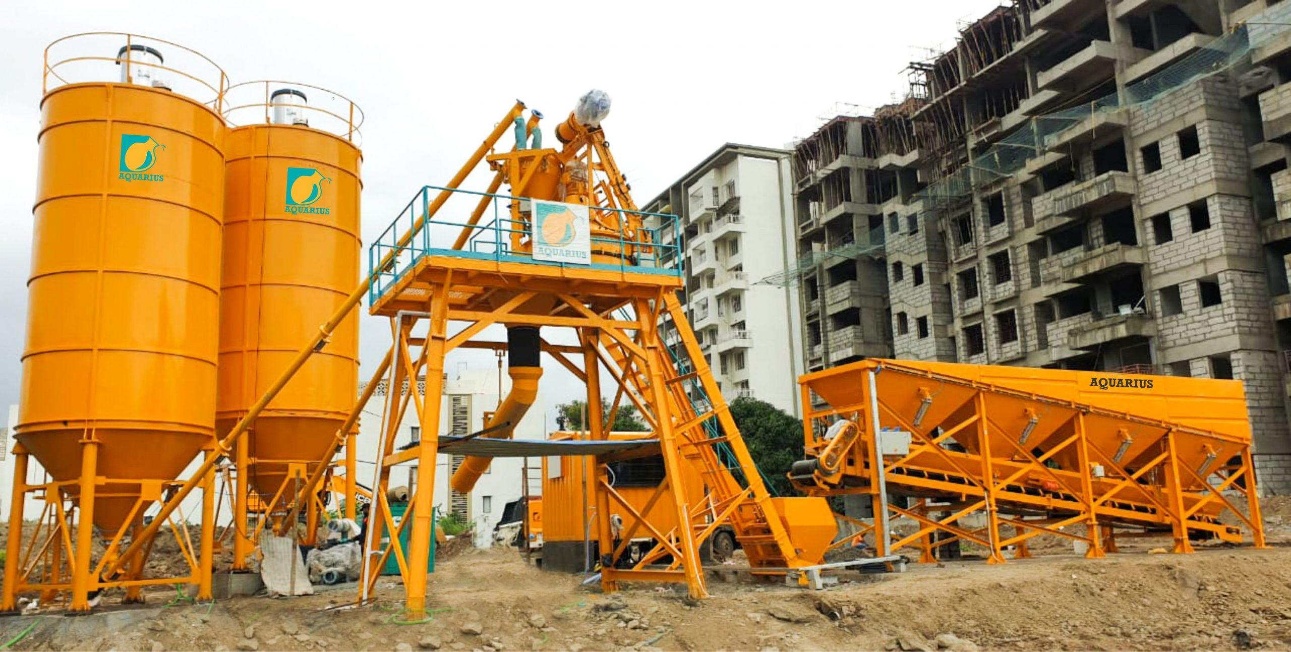 Aquarius SP 40 Batching Plant working at Sarsan Aawishkar Properties, Pune for Housing Project
